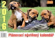Pes přítel clověka - nástěnný plánovací kalendář pro rok 2016