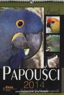 Papoušci 2014 - nástenný kalendár