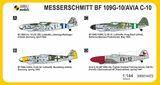Model Messerschmitt Bf 109G-10 Vigorous Fighter (2v1) MKM14473