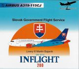 Model lietadla - Airbus A319-115CJ Slovak Government Flight Service