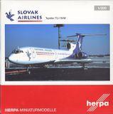 Tupolev TU-154 M Slovenská republika - model + karta s podpisom