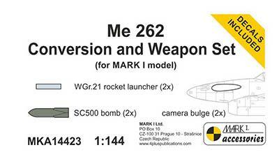 Model Messerchmitt Me 262A Conversion and weapon set, MKA14423