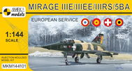 Model Mirage IIIE/EE/RS/5BA 'In Europe' (French, Spanish, Swiss & Belgian AF)