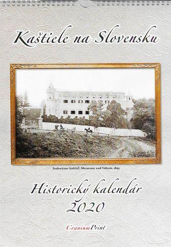 Nástenný kalendár Kaštiele na Slovensku - Historický kalendár 2020