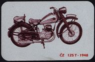 Kovová magnetka - Motív ČZ 125 T 1948