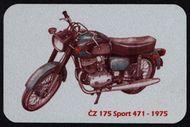 Kovová magnetka - Motív ČZ 175 Sport 471 - 1975
