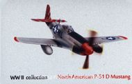 Kovová magnetka - Motív North American P-51 D Mustang