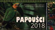 Papoušci - stolový kalendář 2018