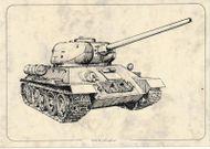 Tank T-34/85 - Pohľadnica