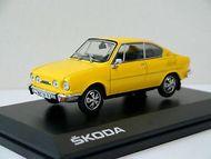 Škoda 110R Coupe, 1980 (Solar Yellow) - kovový model 1:43