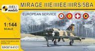 Model Mirage IIIE/EE/RS/5BA 'In Europe' (French, Spanish, Swiss & Belgian AF)
