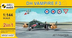 Stavebnica DH Vampire F.3 Jet Fighter (1:144)