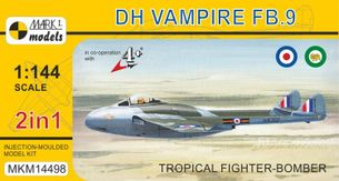 Stavebnica DH Vampire FB.9 Tropical Fighter-Bomber (1:144)