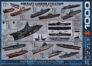 Puzzle 1000: Vývoj lietadlových lodí (Aircraft Carrier Evolution)