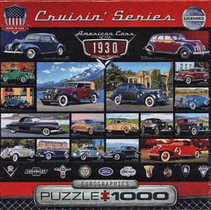 Puzzle 1000: Klasické americké autá 30. rokov (American Cars of the 1930)