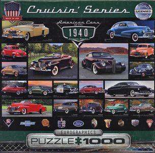 Puzzle 1000: Klasické americké autá 40. rokov (American Cars of the 1940)
