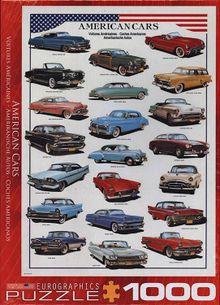 Puzzle 1000: Klasické americké autá 50. rokov (American cars of the 1950)