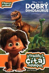 Dobrý dinosaurus - Vyfarbuj, čítaj, nalepuj
