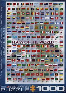 Puzzle 1000: Vlajky sveta (Flags of the World)