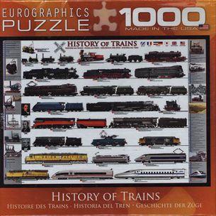 Puzzle 1000: História vlaku (History of Trains)