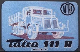 Kovová magnetka - Motív Tatra 111 R
