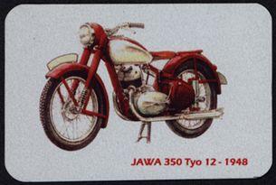 Kovová magnetka - Motív Jawa 350 Tyo 12 - 1948