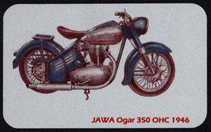 Kovová magnetka - Motív Jawa Ogar 350 OHC - 1946