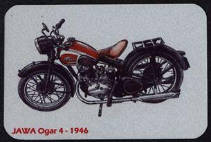 Kovová magnetka - Motív Jawa Ogar 4 - 1946