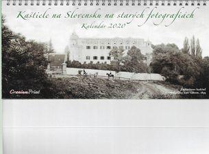 Stolný kalendár Kaštiele na Slovensku na starých fotografiách 2020