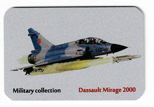 Kovová magnetka - Motív Military collection - Dassault Mirage 2000
