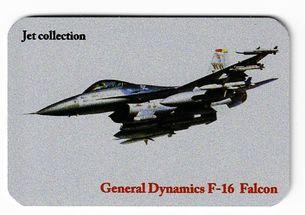 Kovová magnetka - Motív Jet collection - General Dynamics F-16 Falcon