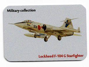 Kovová magnetka - Motív Military collection - Lockheed F-104 G Starfighter