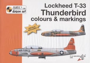 Lockheed T - 33 Thuderbird colours and marking 1/72