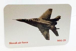 Kovová magnetka - Motív Slovak air force - MIG 29