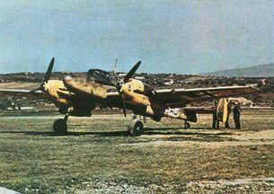 Pohľadnica : messerschmitt bf 110 e
