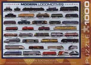 Puzzle 1000: Moderné lokomotívy (Modern Locomotives)