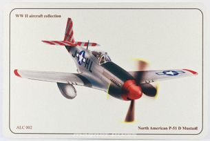 N.A. P-51 D Mustang - ALUMCARD
