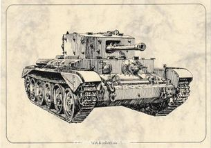 Tank Cromwell Mk IV - Pohľanica