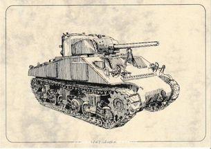 Tank M4 Sherman - Pohľanica
