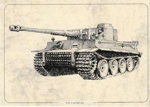 Tank PzKpfw VI Tiger - Pohľadnica