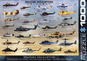 Puzzle 1000: MILITARY HELICOPTERS