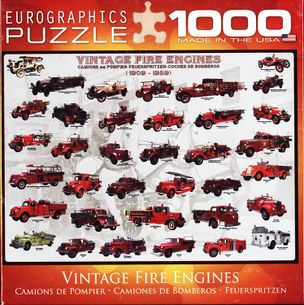 Puzzle 1000: VINTAGE FIRE ENGINES