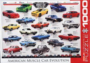 Puzzle 1000: Vývoj amerických áut (American Muscle Car Evolution)