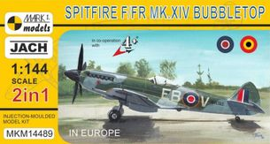 Model Spitfire F/FR Mk.XIV Bubbletop in Europe (1:144)