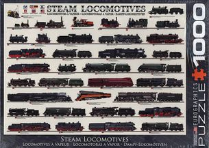 Puzzle 1000: Parné lokomotívy (Steam Locomotives)