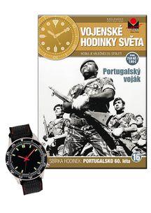 Vojenské hodinky světa č.16 - Portugalský voják, 60. léta 20. století