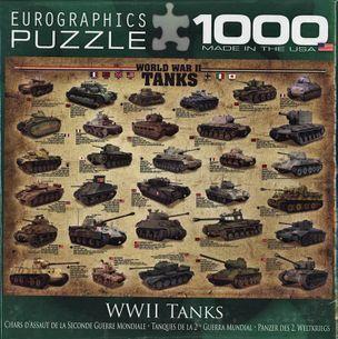 Puzzle 1000: Tanky II. svetovej vojny (WWII Tanks)