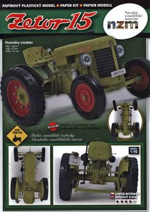 Traktor Zetor 15 (1:62 model) 2018