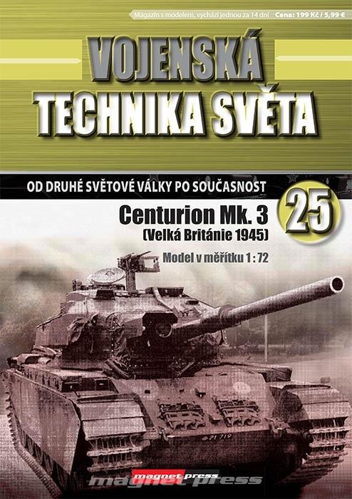Vojenská technika světa č.25 - stredný kanónový tank Centurion